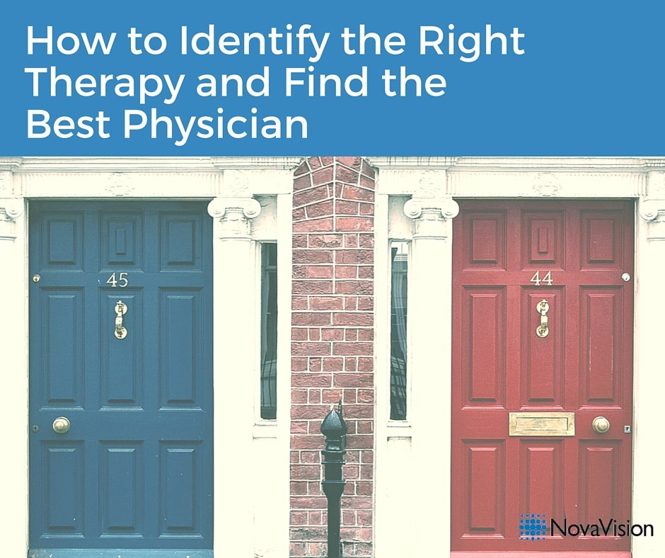 How To Identify The Right Therapy And Find The Best Physician