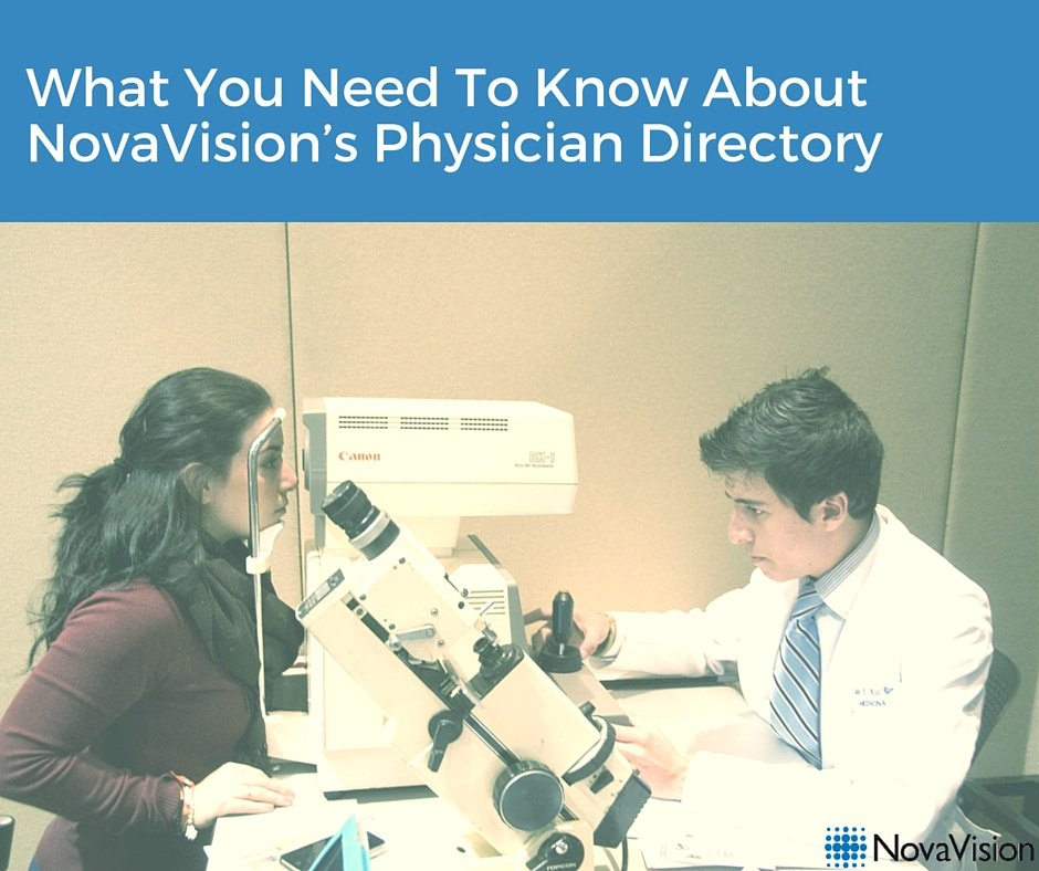 What You Need To Know About NovaVision's Physician Directory